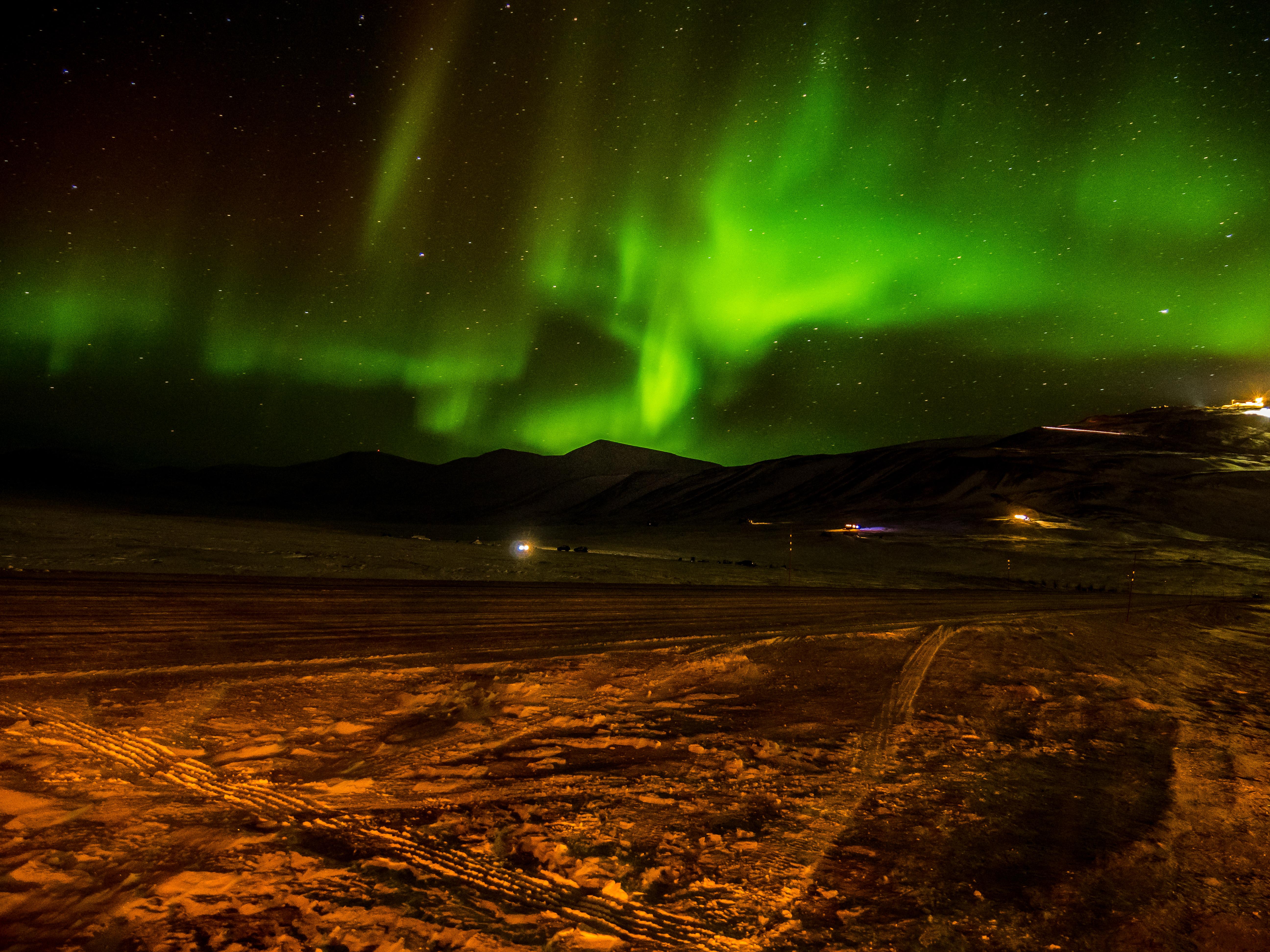 Aurore boréale au Svalbard